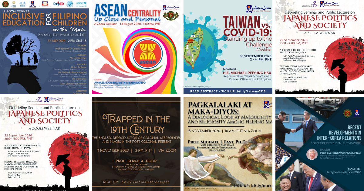 Watch FREE: All UP Asian Center Webinars for 2020