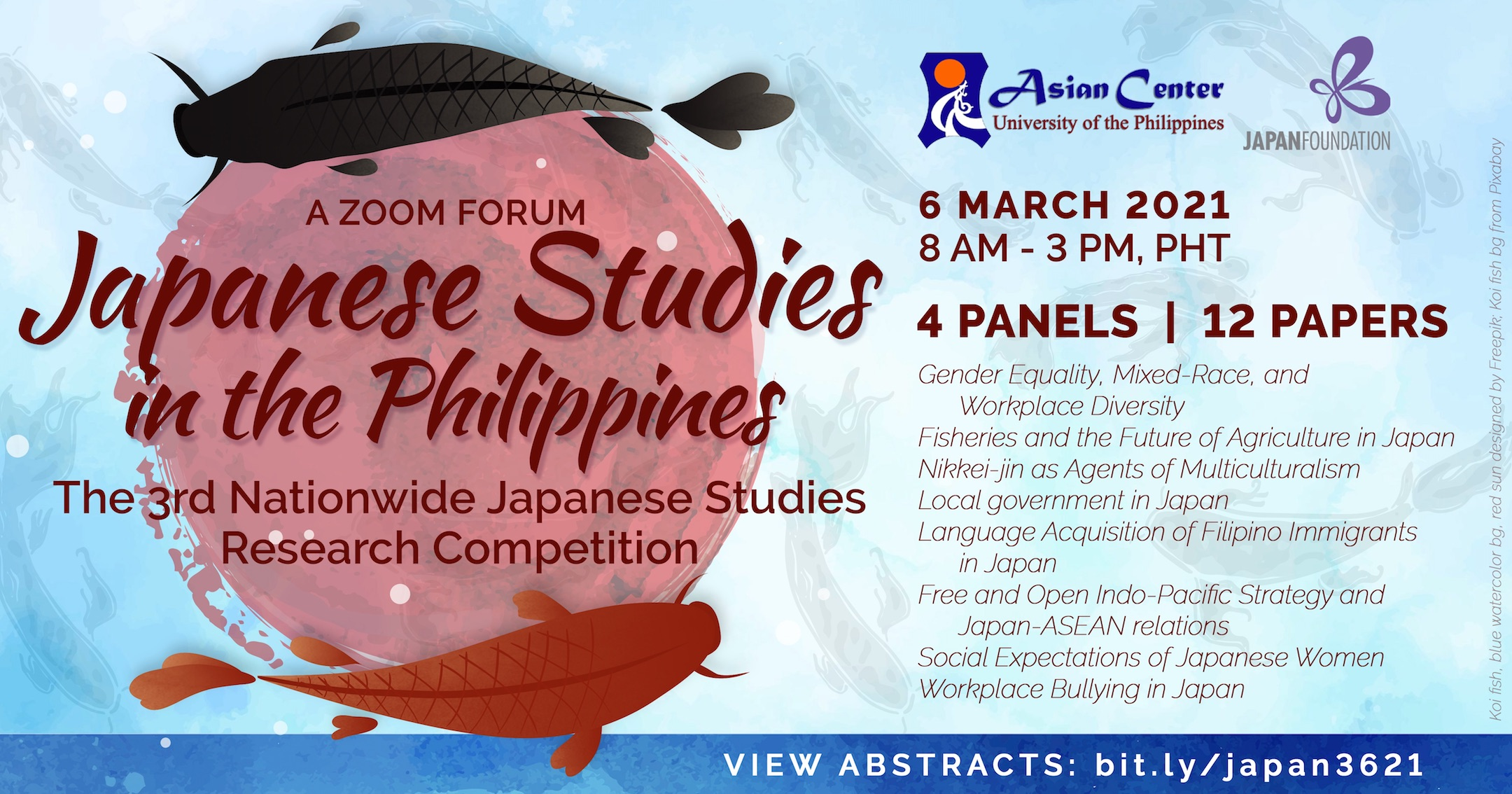 Japanese Studies in the Philippines: A Forum and Nationwide Research Competition Year 3 (6 Mar 2021)