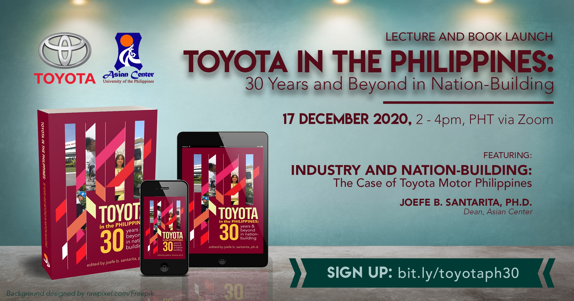 Toyota in the Philippines: 30 Years and Beyond in Nation-Building | Lecture and Book Launch (17 Dec 2020)