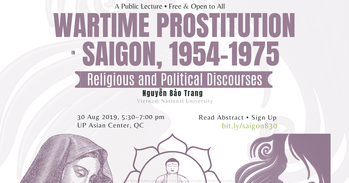 Wartime Prostitution in Saigon, 1954–1975: Religious and Political Discourses | A Public Lecture, 30 Aug