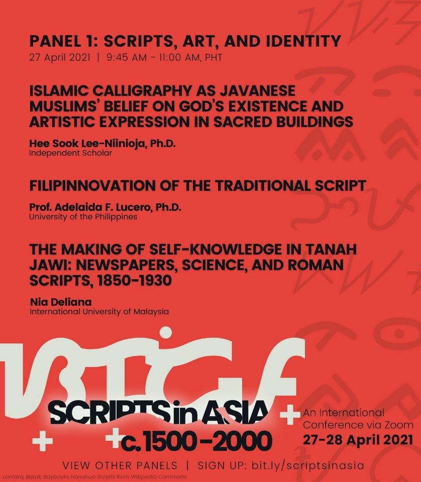 09:45 am • Panel 1: Scripts, Art and Identity