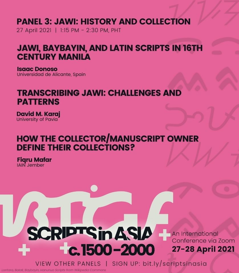 01:15 pm • Panel 3: Jawi—History and Collection
