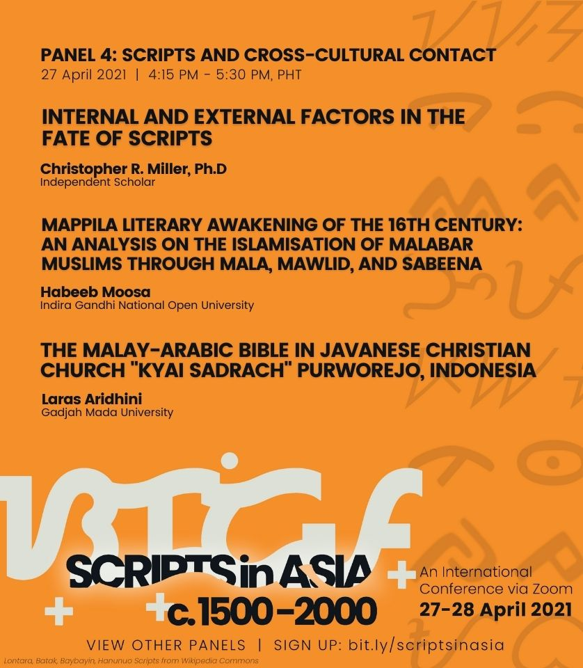 04:15 pm • Panel 4: Scripts and Cross-Cultural Contact