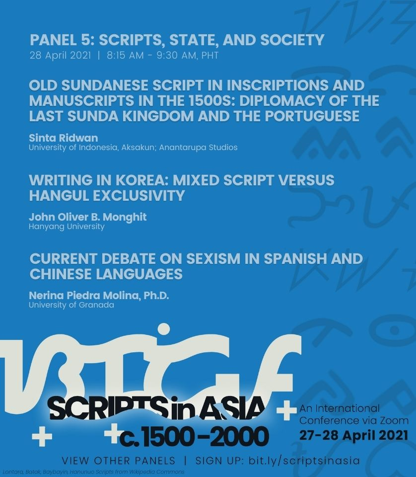 08:15 am • Panel 5: Scripts, State and Society
