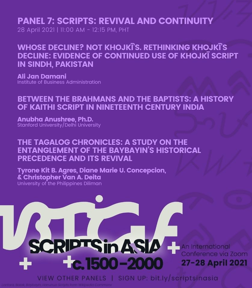 11:00 am • Panel 7: Scripts—Revival and Continuity