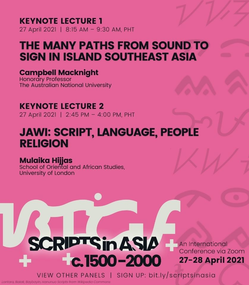 08:15 am • Keynote 1 | The Many Paths from Sound to Sign in Island Southeast Asia