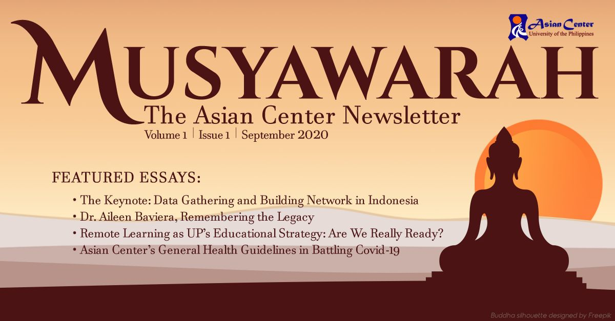 Join the Conversation | Musyawarah: The Official Newsletter of the UP Asian Center