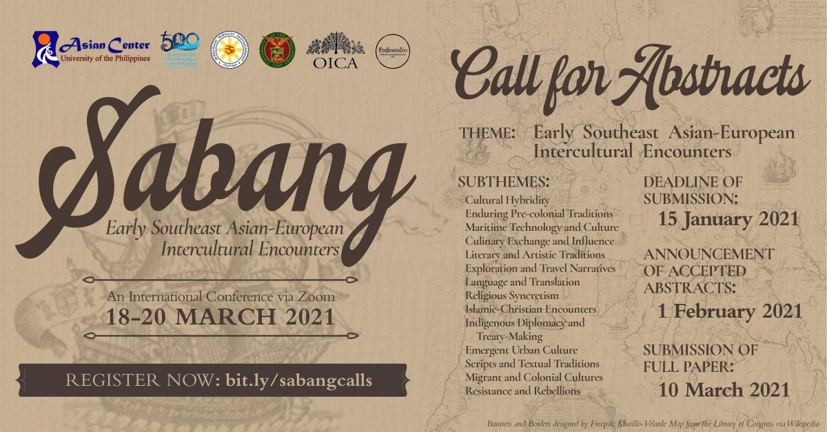 Sabang: Early Southeast Asian-European Intercultural Encounters | Call for Abstracts