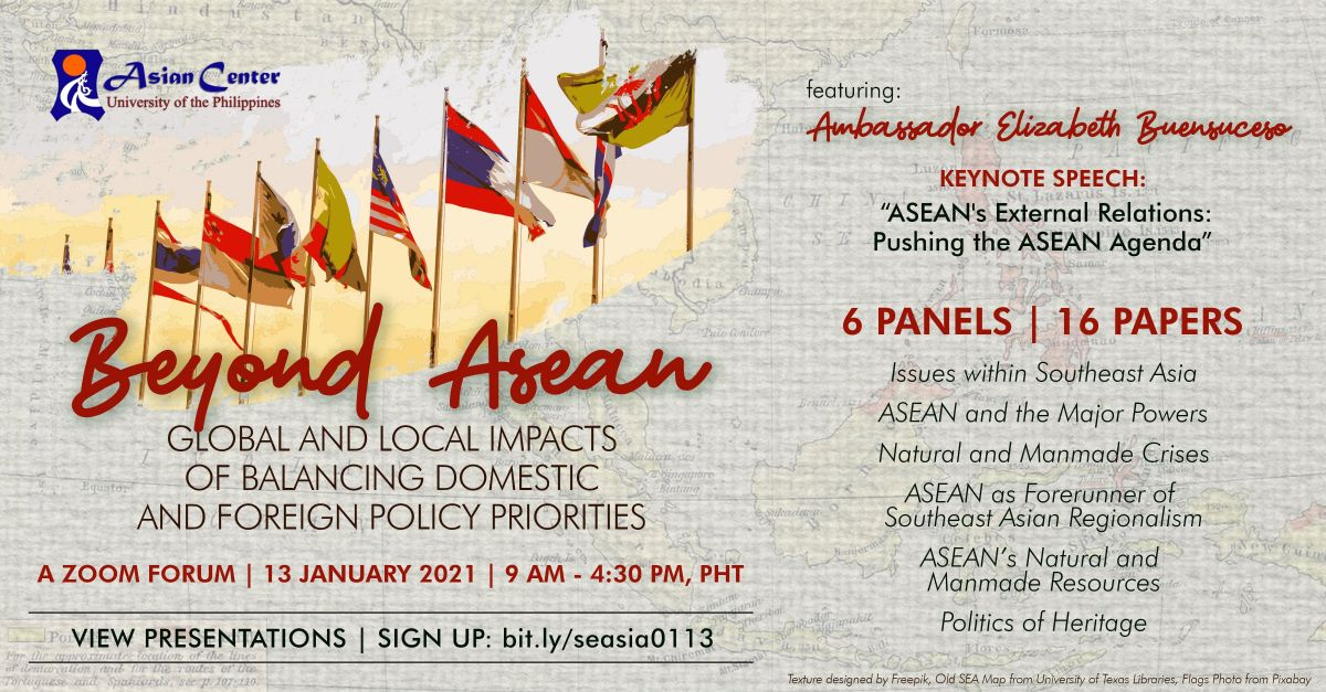 Beyond ASEAN: Global and Local Impacts of Balancing Domestic and Foreign Policy Priorities | Zoom Forum