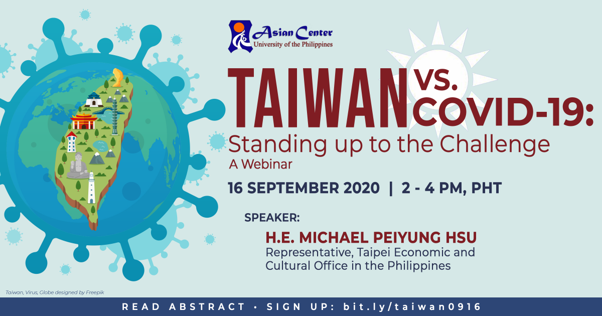 Watch: Taiwan vs. COVID-19: Standing Up to the Challenge | A Webinar (16 Sept 2020)